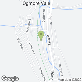 Map of Ogmore Valley Building Supplies in Ogmore Vale, Bridgend, mid glamorgan