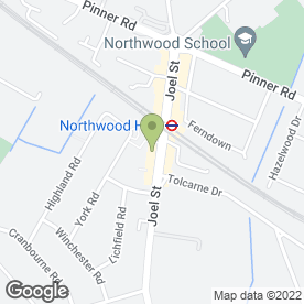 Map of Whitefield Legal Services in Northwood, middlesex