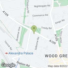 Map of Bounds Green Dental Practice in London, london