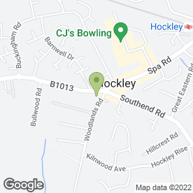 Map of HOCKLEY DENTAL SURGERY in Hockley, essex
