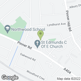 Map of Female Plumber in Pinner, middlesex