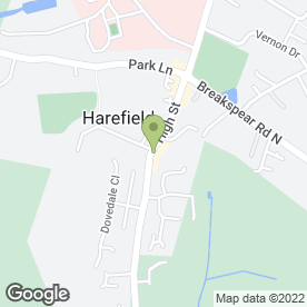 Map of The Harefield in Harefield, Uxbridge, middlesex