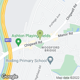 Map of Hairy Hounds in Woodford Green, greater london