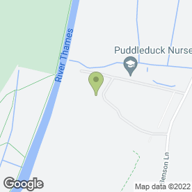 Map of Puddleduck Nursery in Wallingford, oxfordshire