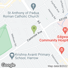 Map of Asconia Retail Security Consultants in Edgware, middlesex
