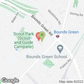 Map of Bounds Green Group Practice in London, london