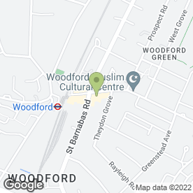 Map of Robert Bell Salon in WOODFORD GREEN, greater london