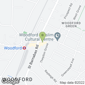 Map of Mark Anthony Dry Cleaners in Woodford Green, greater london