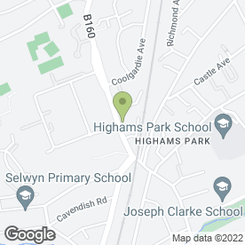 Map of Budgens in Highams Park, London, london