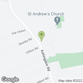 Map of Ashingdon & East Hawkwell Memorial Hall in Rochford, Essex, essex