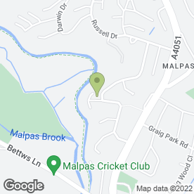 Map of Malpas Landscapes in Malpas, Newport, gwent