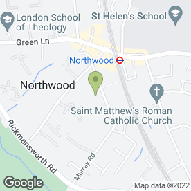 Map of Northwood Plumbing & Heating - Boiler Breakdowns in Northwood, middlesex