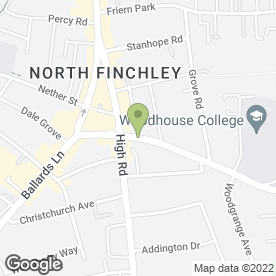 Map of All Smiles In Finchley in London, london