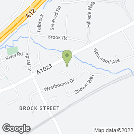 Map of Marygreen Manor Hotel in Brentwood, essex