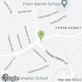 Map of Da Franco Ristorante Italiano in Friern Barnet Road, London, london