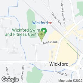 Map of Wickford Community Association in Wickford, essex