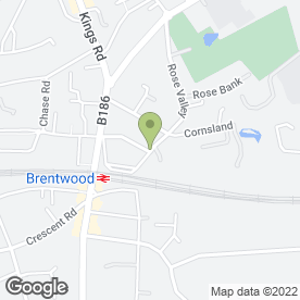 Map of Brentwood Guest House in Brentwood, essex