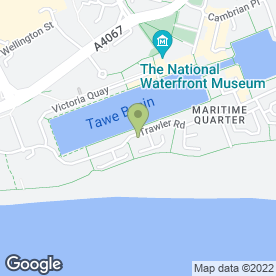 Map of T.V Bridal Hair & Make-Up in Maritime Quarter, Swansea, west glamorgan