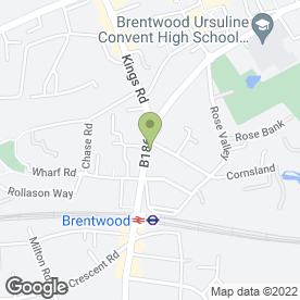 Map of Bar West One in Brentwood, essex