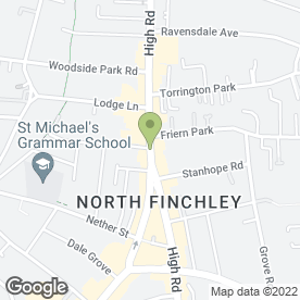 Map of Kinleigh Folkard & Hayward Letting Agents in Finchley, london