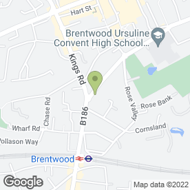 Map of TIFFIN GREEN in Brentwood, essex