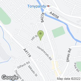 Map of D.J Aerials in Tonypandy, mid glamorgan