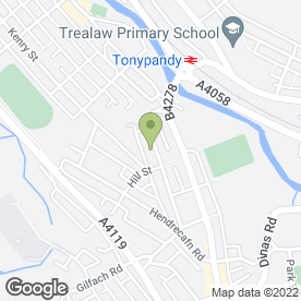Map of Pandy Taxis in Tonypandy, mid glamorgan