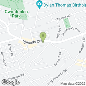 Map of Diamond Rod in Uplands, Swansea, west glamorgan