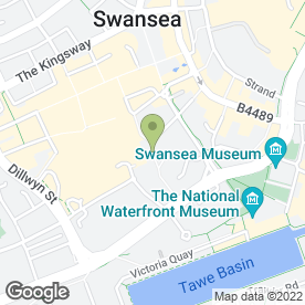 Map of Cranes Musical Instruments in Swansea, west glamorgan