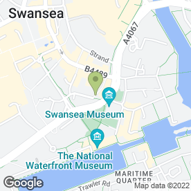 Map of H2oswansea.com in Swansea, west glamorgan