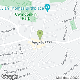 Map of Carole Dally Counselling & Hypnotherapy in Swansea, west glamorgan