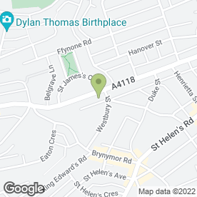 Map of St. James Veterinary Group in Swansea, west glamorgan