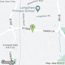 Map of Chingford Hatch P.O in London, london