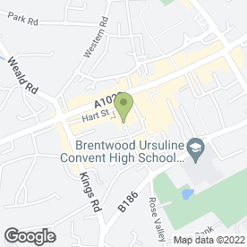 Map of Voodoo Hair in Brentwood, essex