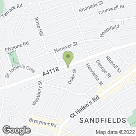Map of Eet Fresh Catering in Swansea, west glamorgan