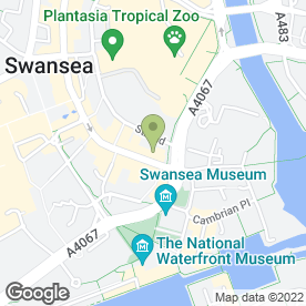 Map of Lava Lounge in Swansea, west glamorgan