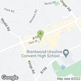 Map of Citizens Advice Bureau in Brentwood, essex