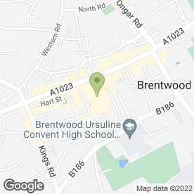 Map of Thomson Bureaux de Change in Brentwood, essex