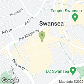 Map of Orange in Swansea, west glamorgan