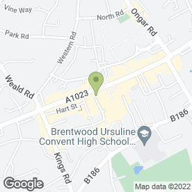 Map of NatWest Bank plc in Brentwood, essex