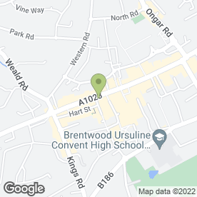 Map of Santander in Brentwood, essex