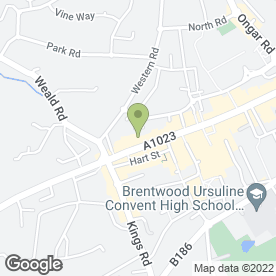 Map of Gemini in Brentwood, essex