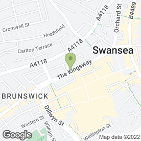 Map of Burgess Foreign Exchange in Swansea, west glamorgan