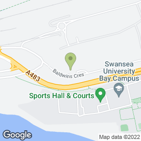 Map of Blazers Caravan in Crymlyn Burrows, Swansea, west glamorgan