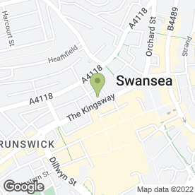 Map of Eleo's Restaurant in SWANSEA, west glamorgan