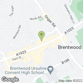 Map of Superdrug Stores plc in Brentwood, essex