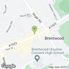 Map of Pinney Talfourd LLP Solicitors in Brentwood, essex