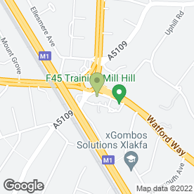 Map of AVA Hair & Beauty in Mill Hill, London, london