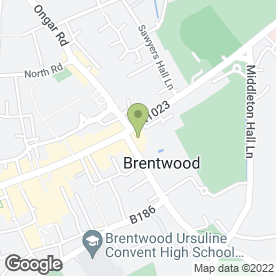 Map of BNY Mellon in Brentwood, essex