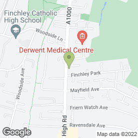 Map of NORTH FINCHLEY TYRES in London, london